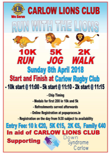 Run with the Lions 2018