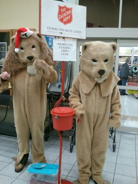 Lions Ringing Bells for Salvation Army