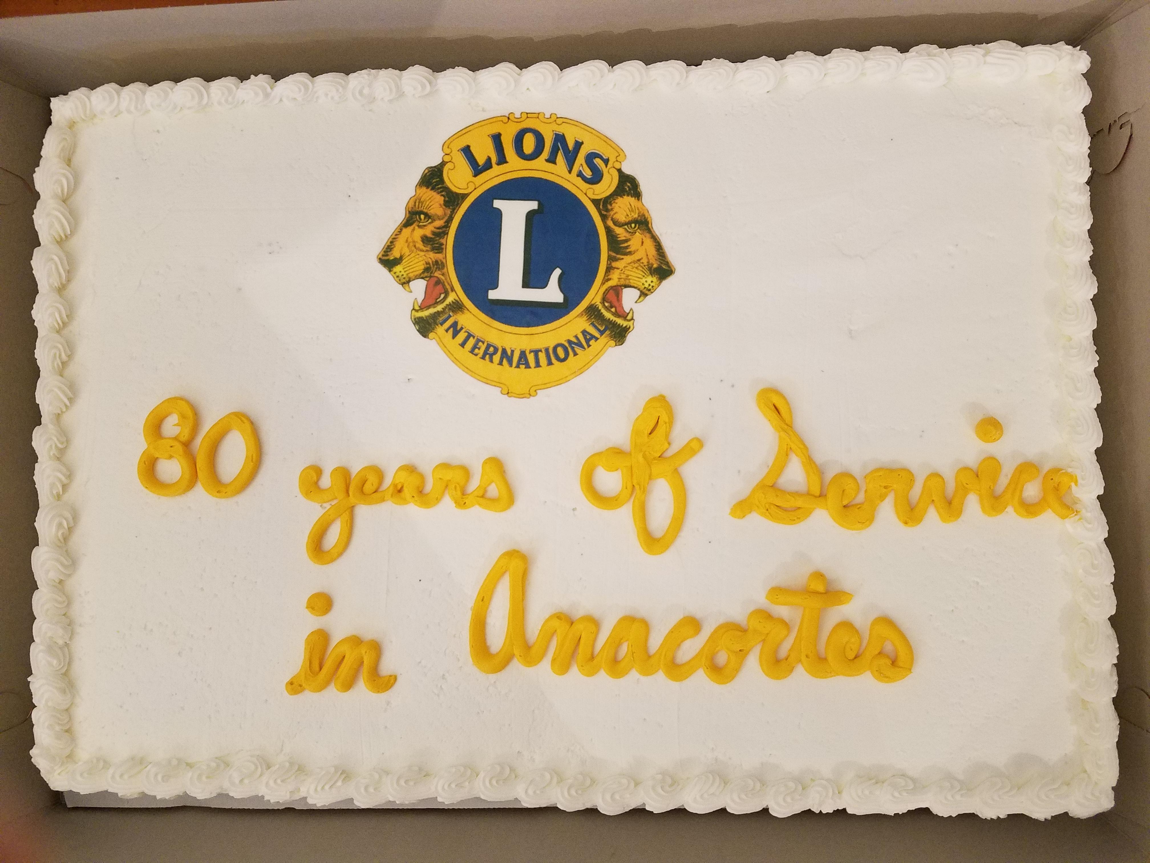 Lions Club of Anacortes Celebrates 80 years!