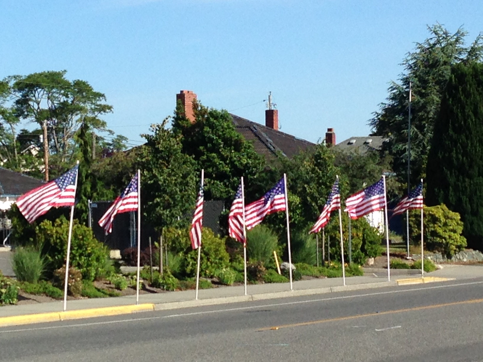 Flags displayed by Anacortes Lions