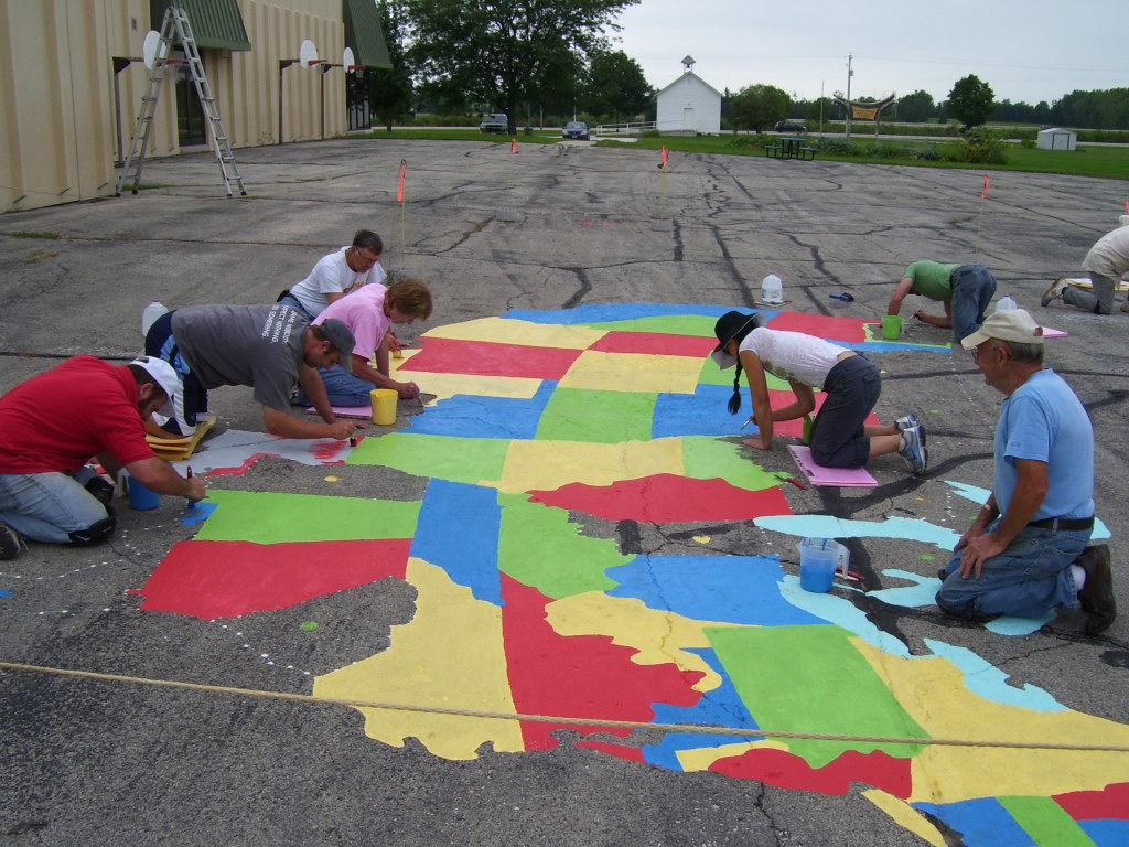 Lions painting the map 2014
