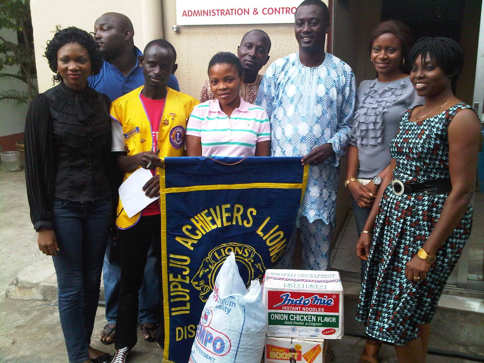 Donation of items @ Little Saints Orphanage Home