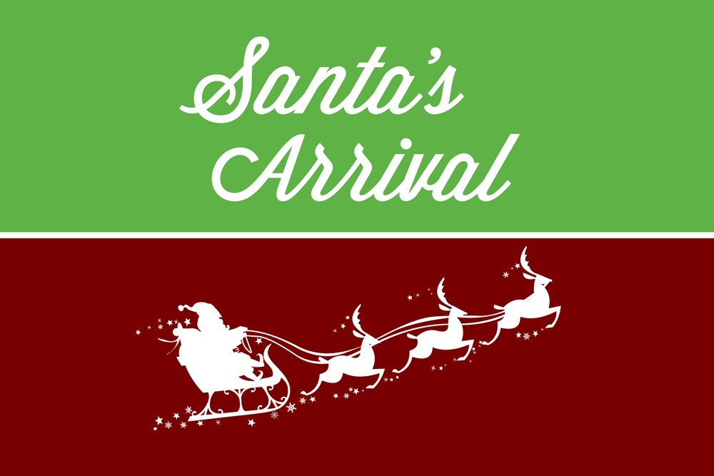 Santa's Arrival Post Card