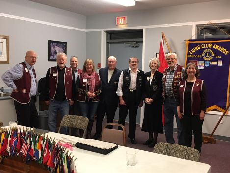 Nannose Bay Lions Club welcomes District Governor Joyce Boyle, January 2018