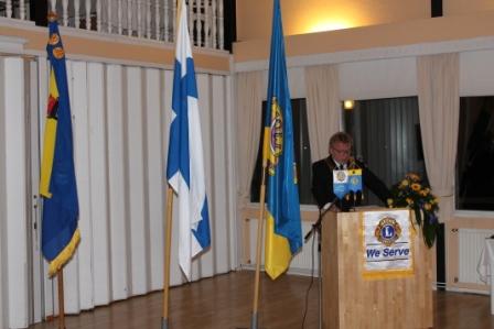 LC Porin presidentti Olli-Pekka Ihalainen toivotti vieraat tervetulleiksi.