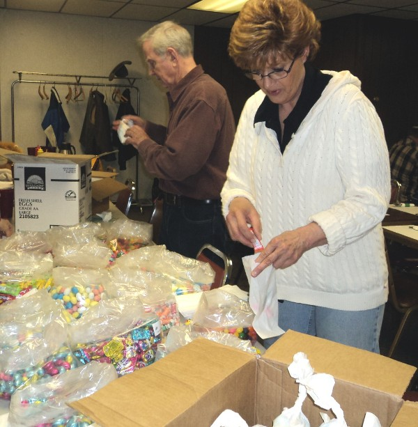 Getting Ready for the Annual Easter Egg Hunt, March 31 1 p.m. Greybull City Park