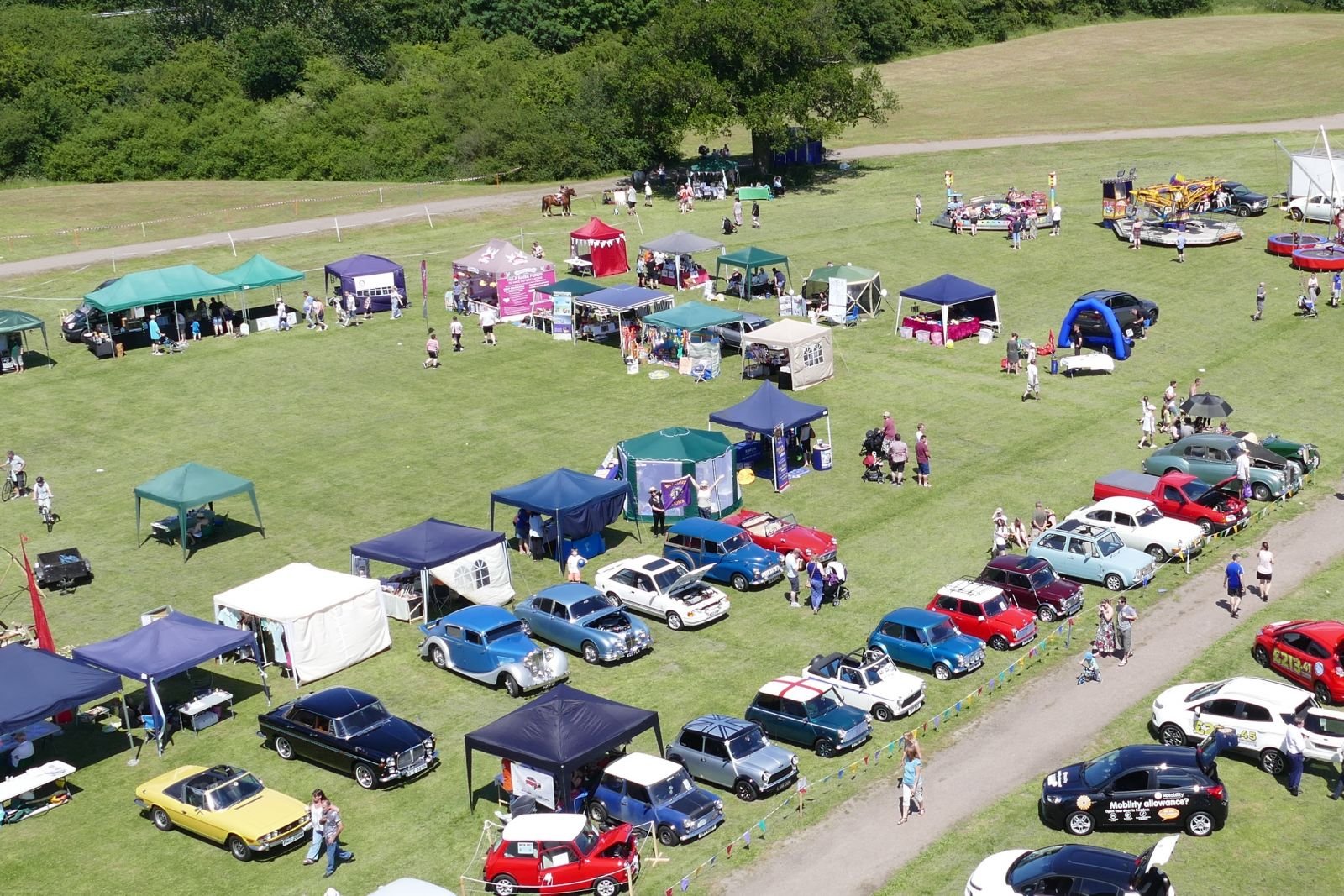 Arial View of Lions Fun Day / Green Fair 2017