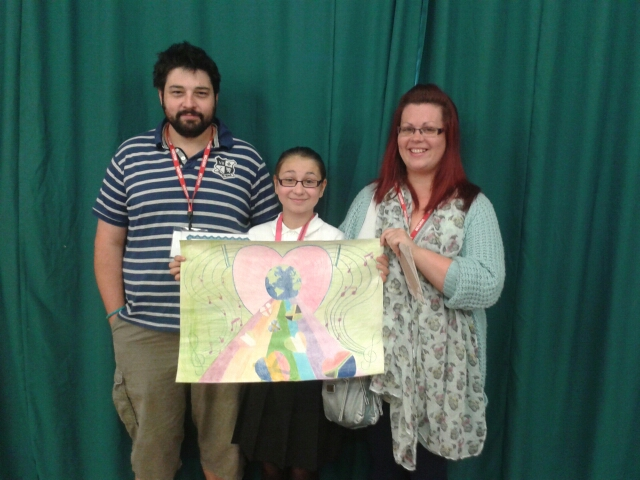 Mr & Mrs Smith are the Proud Parents of Anya who won the Redditch Lions Peace Poster Competition for 2103