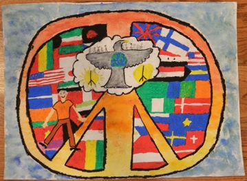 Peace Poster by Kyle Robinson of Woodlawn School