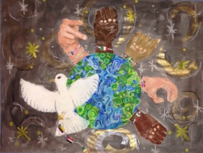 Peace Poster by Dollie Gravley of Carroll Middle School