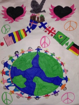 Peace Poster by Kelsey Edwards of St. Paul School