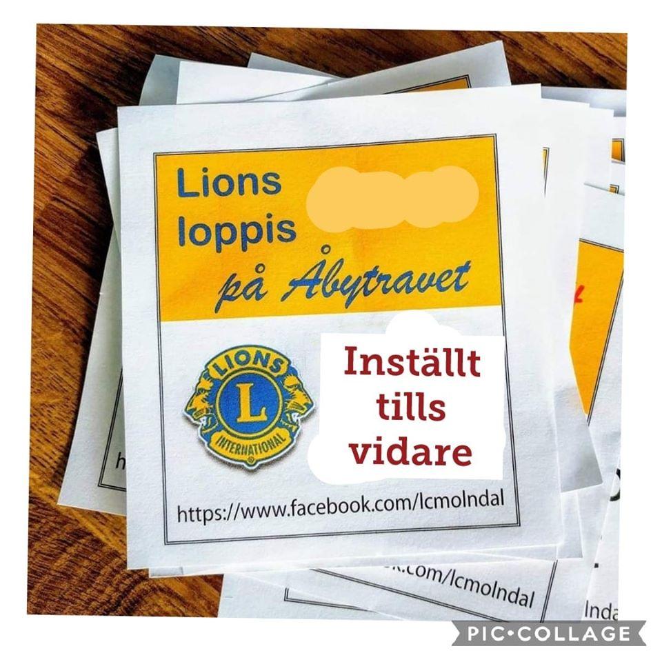 Lionsloppis inställt tills vidare