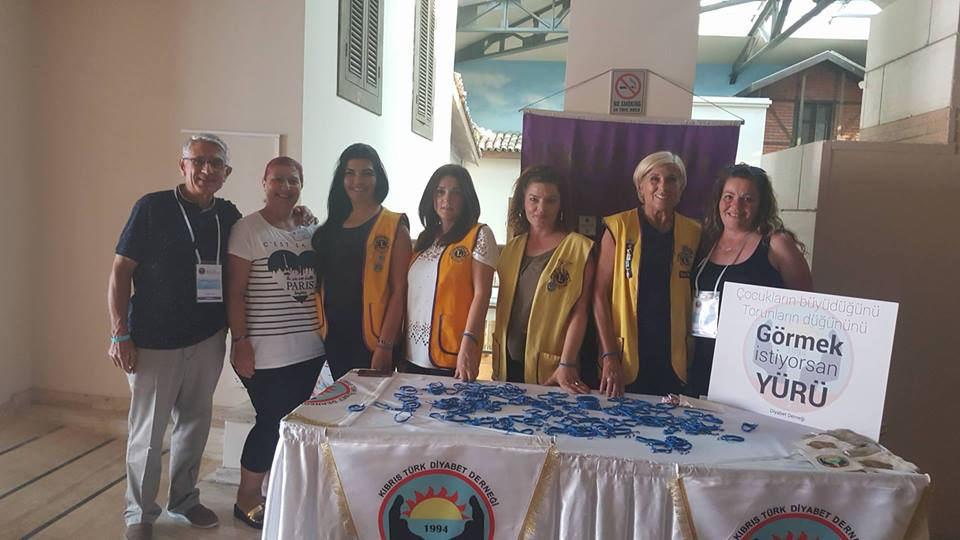 We sold the blue bracelets that represnt diabetes awareness that we, as Iskele Sahil Lions Club members made and donated the funds to North Cyprus Diabetes Foundation