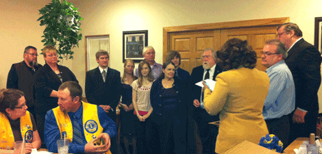 Canton LIONS Club Officers Inducted