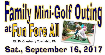 September 16 Mini-Golf Outing