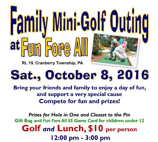 October 8 2016 Family Mini Golf
