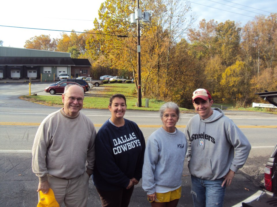 Part of the Fall 2012 work crew, including chair, Lion Bill Grau