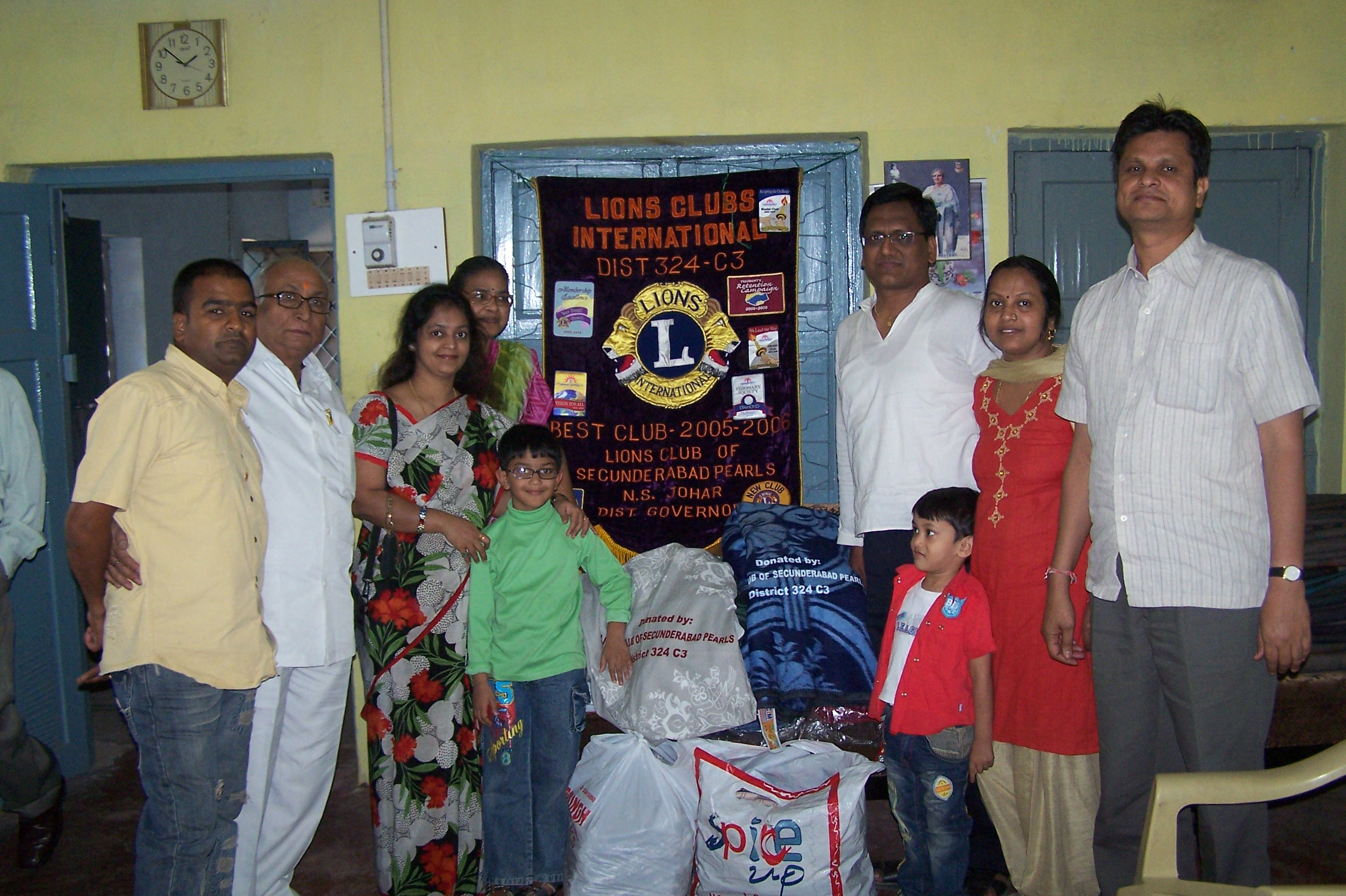 Members at Distribution of Blankets and Bedsheets at an OLD AGE HOME in Hyderabad