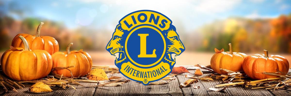 Lions Club International Fall Pumpkin Harvest Cover Header