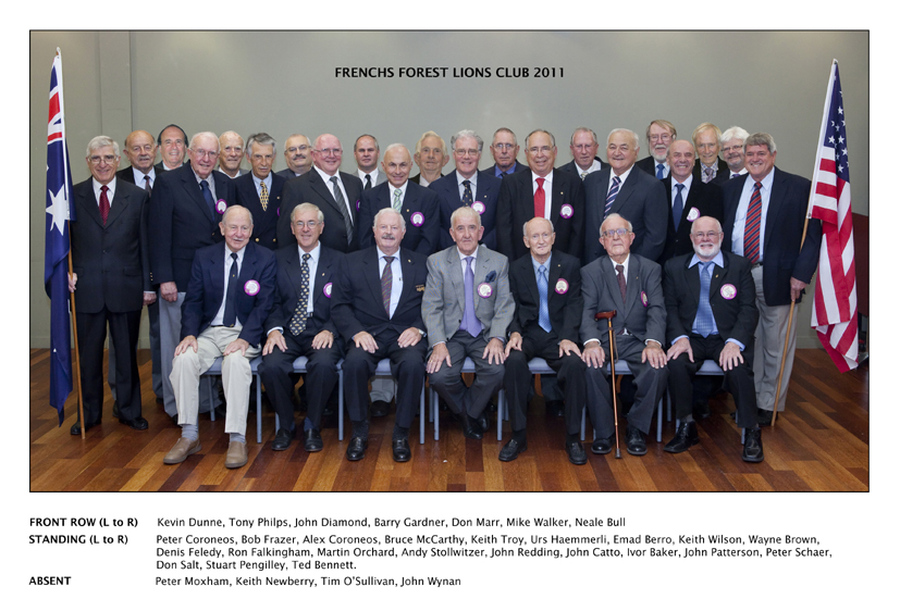 Lions Club of Frenchs Forest members 2011