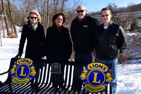 Dediction of Linear Trail Park Bench With Cheshire Officials 2017