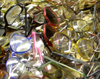 Used eyeglasses for recycling