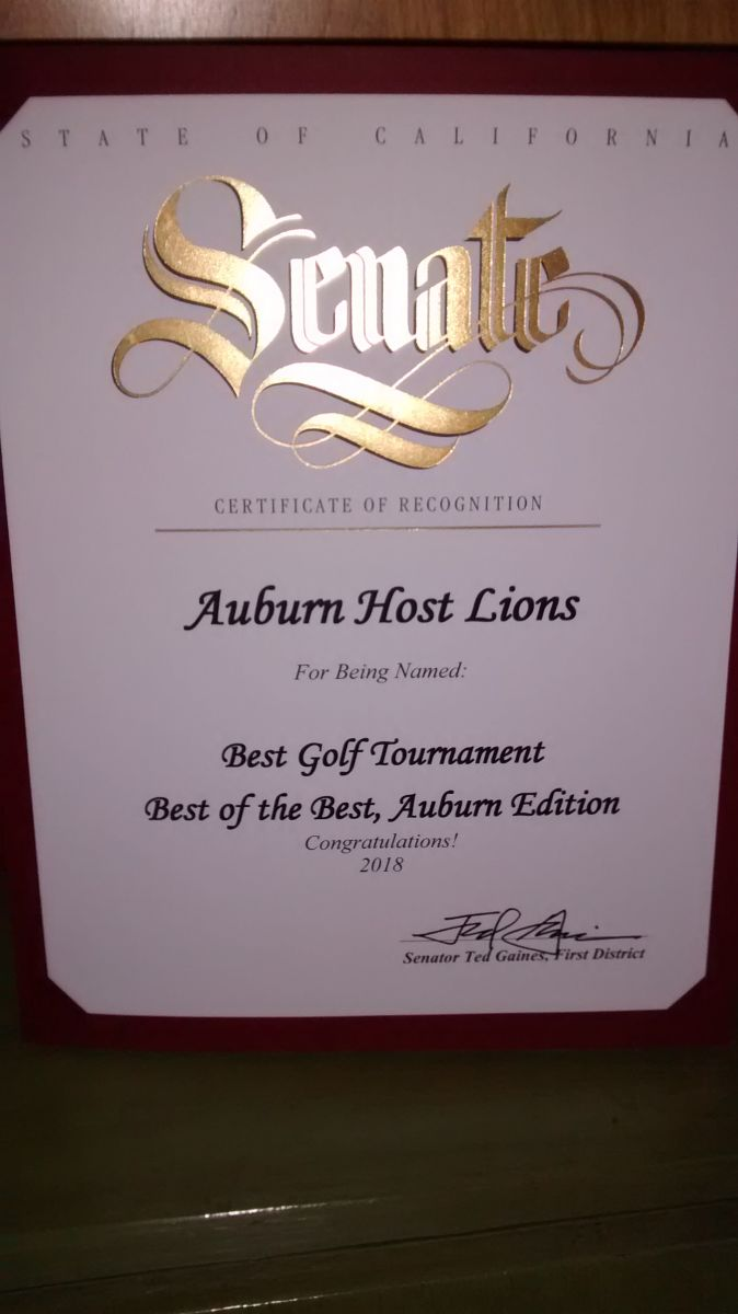 Our charity golf tournament was awarded Best of the Best!