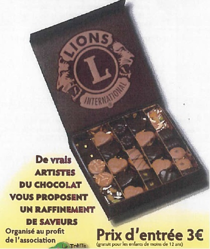 salon du chocolat lions club dijon ARGO manifestation caritative