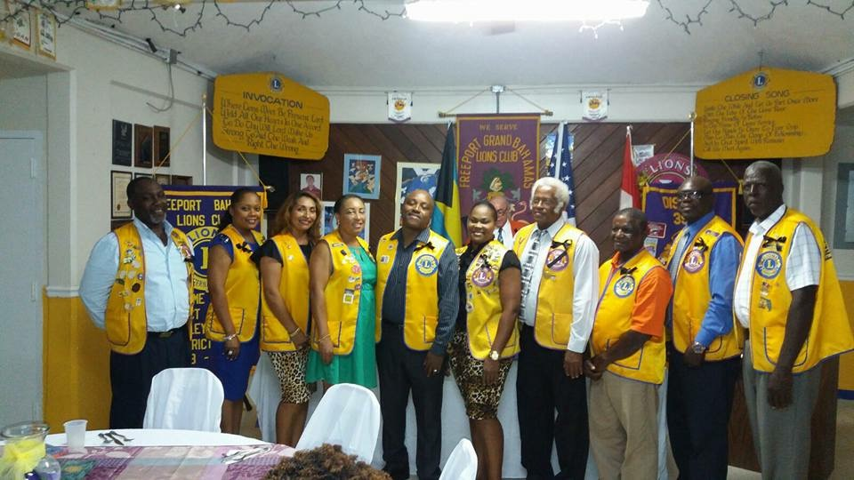Freeport Lions Club New Board 2017-2018