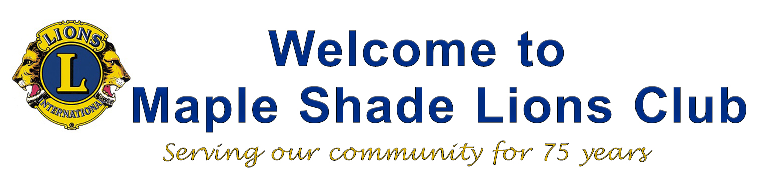 Welcome to the Maple Shade Lions Club
