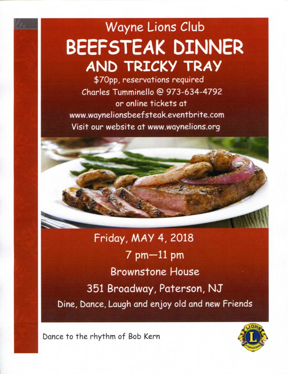 Our Beefsteak Dinner and Tricky Tray
