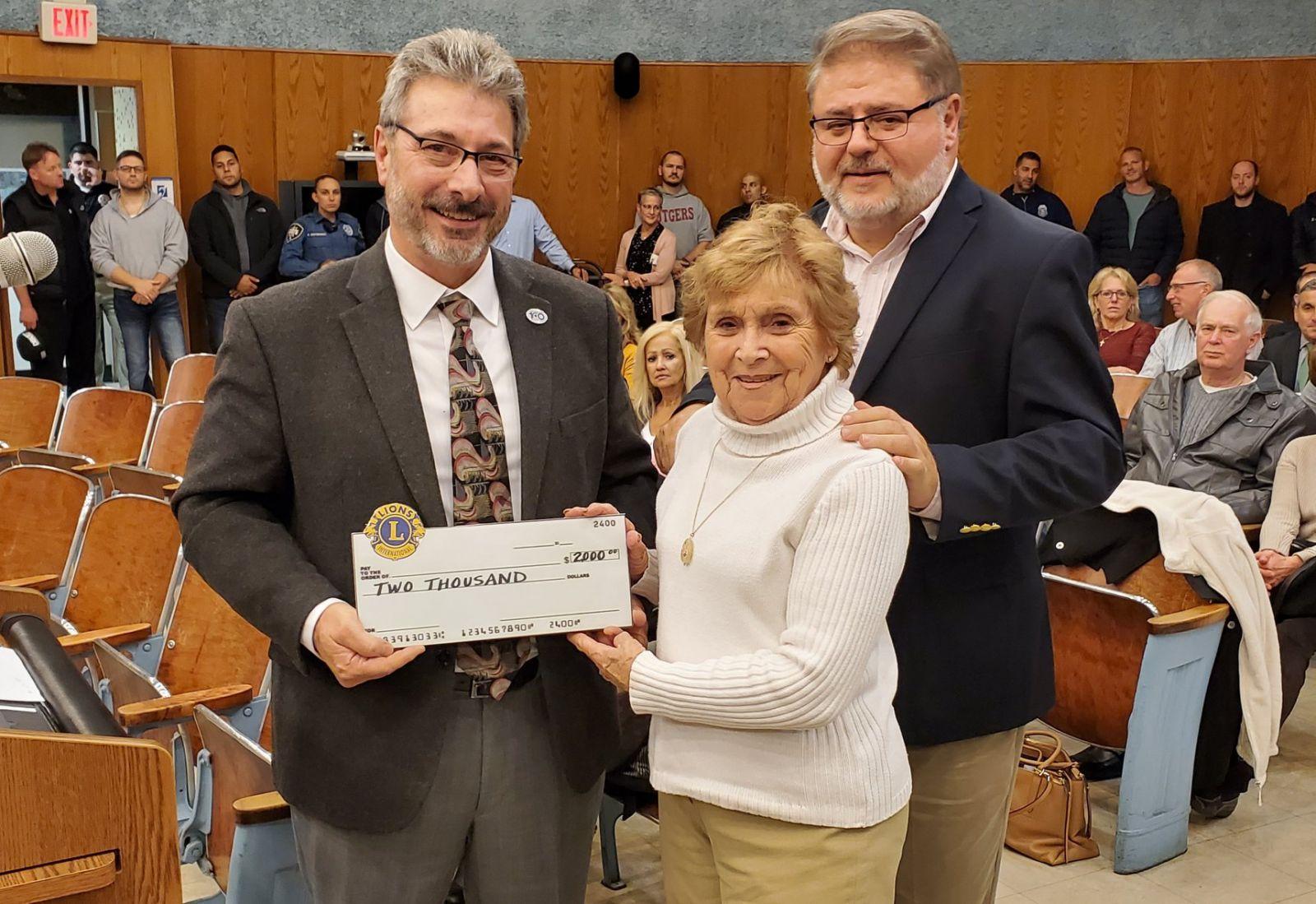 Sandra Pine, Foundation For The Handicapped, Wayne with Mayor Vergano — at Wayne Township NJ.