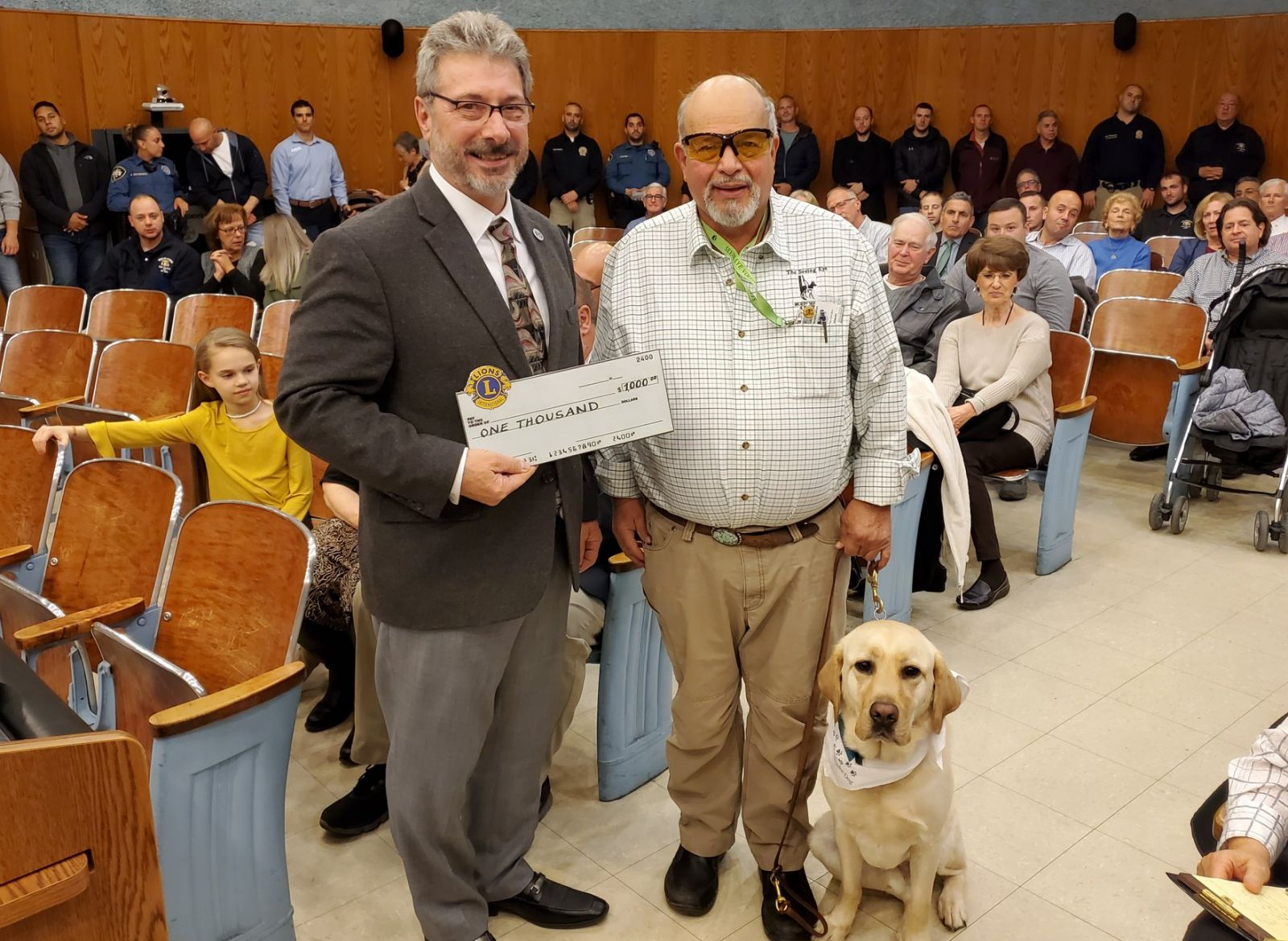 Martin Nusbaum and his service dog Friday, The Seeing Eye, Morristown NJ — with The Seeing Eye, Inc. at Wayne Township NJ.