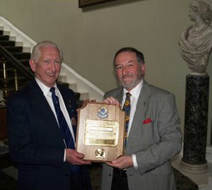 Alex Finlay receives his MJF award from Dartford Lions President Edwin Seabrook-Smith