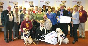 Lions members meet Hounds for Heroes