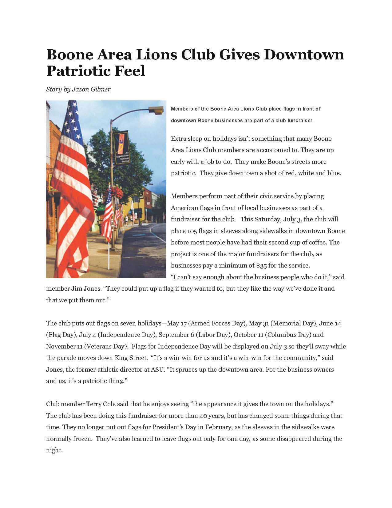 4th of July Story