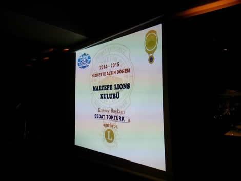 Maltepe Lions Ocak 2015 Toplantısı