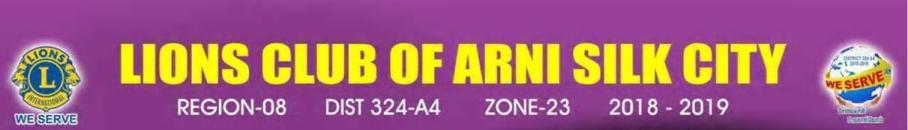 Arni Silk City Lions Club Banner