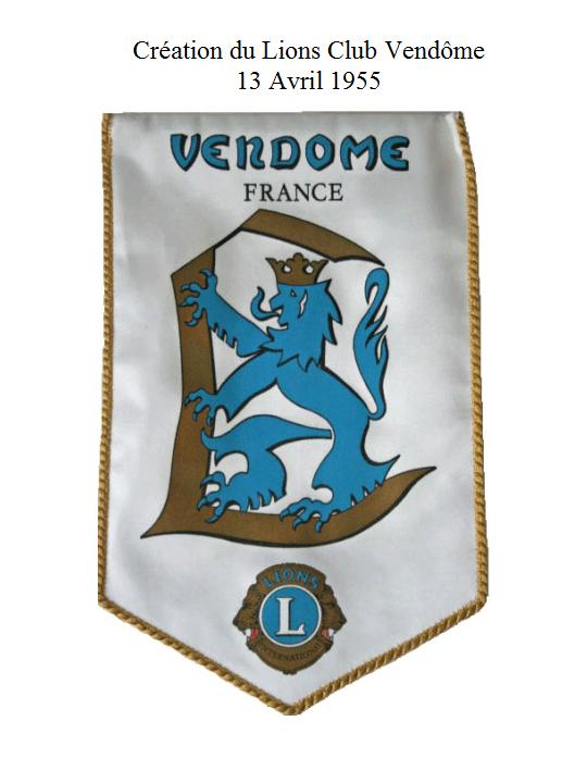 Fanion du LIONS CLUB VENDÔME