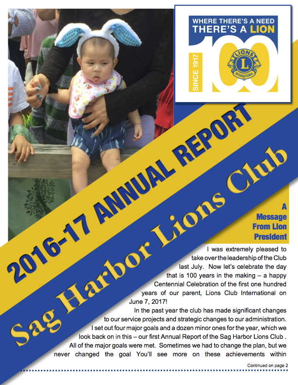 SHLC Annual Report Cover