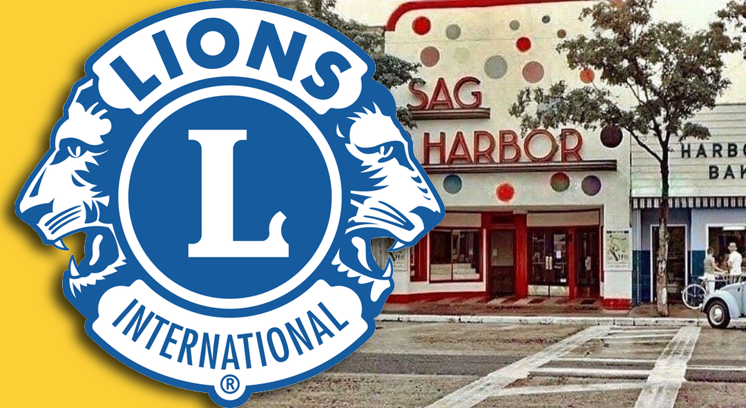 Lions pay tribute to the loss of the iconic Sag Harbor Cinema Façade lost in the fire of 12/16/16