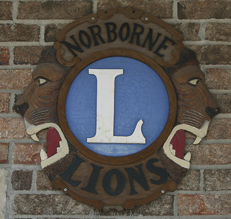 Norborne Lions Emblem at Goppert Center