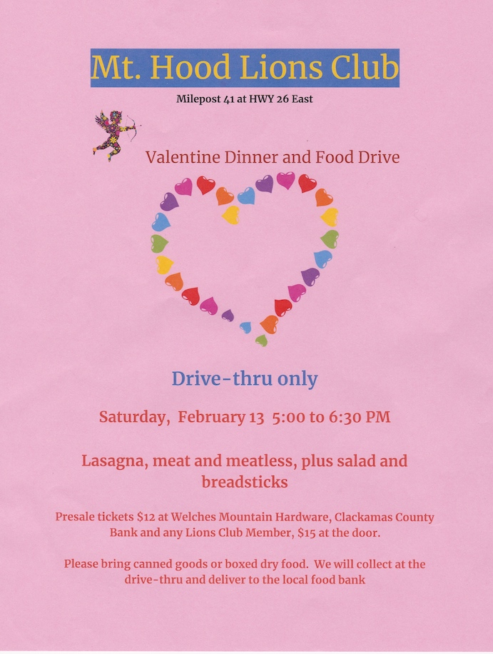 Valentines Dinner and Food Drive