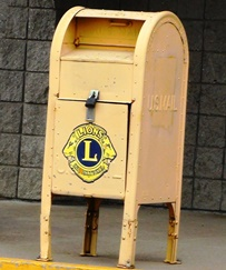 Lions eyeglasses collection mailbox