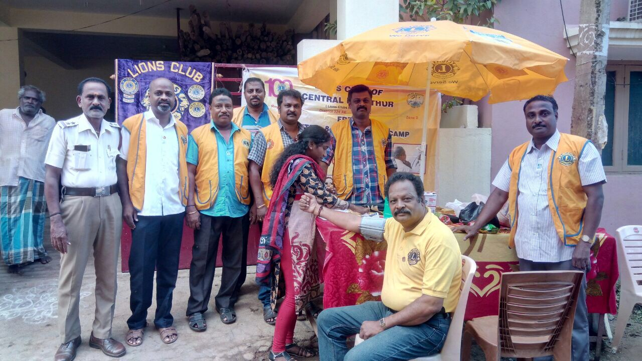 Diabetes Screening Project and Umbrella Distribution