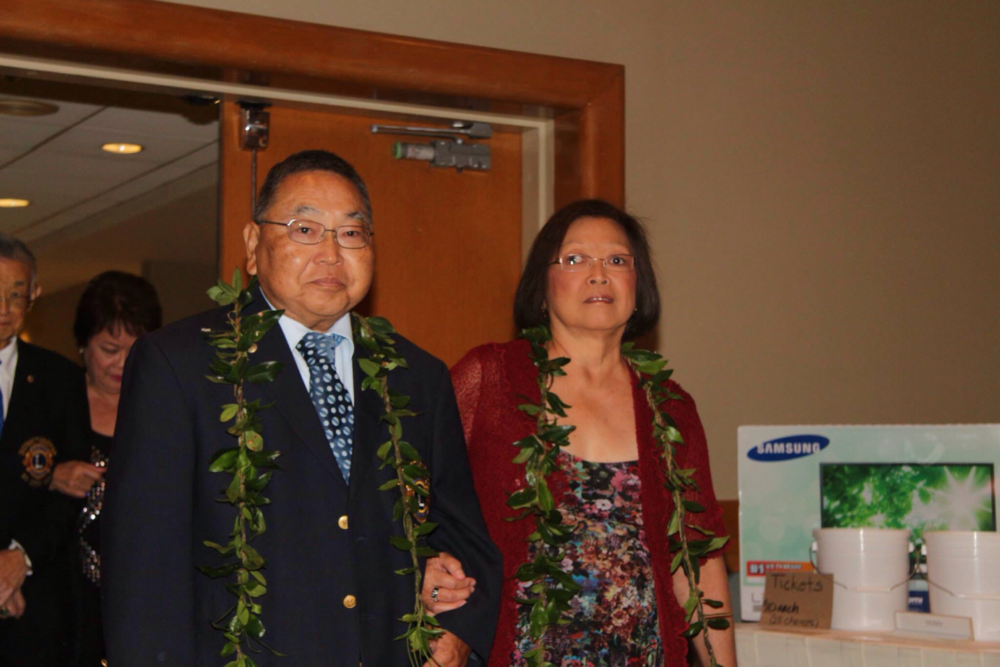 PDG Roy Nishida and CIS Leila as they entered the District Governor's banquet