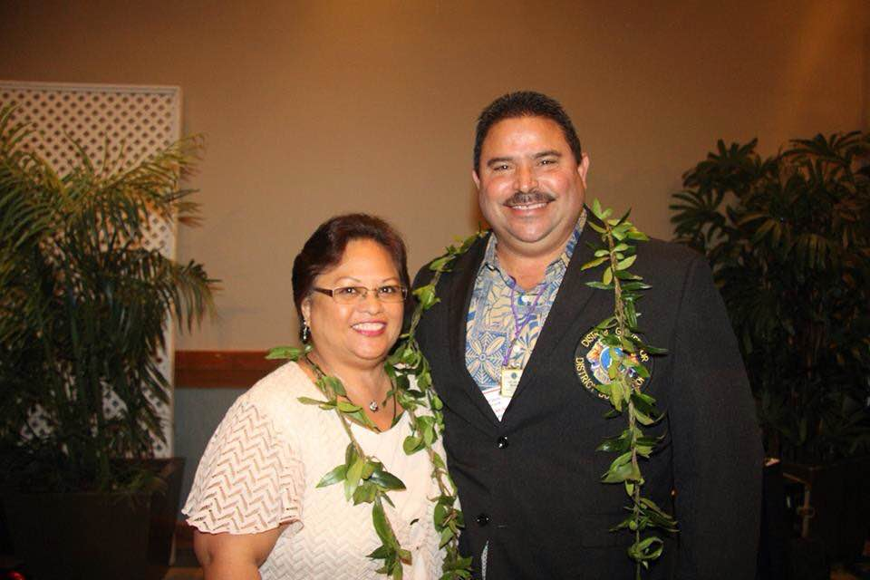 Lion Kelvin was voted in as District 50 governor at the district convention May 16.  He is shown here with his lovely wife and CIS, Janel.