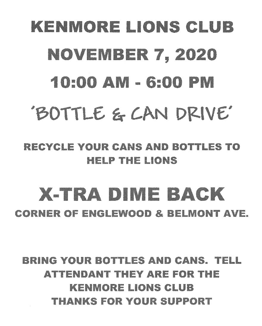 Bottle and can drive flier