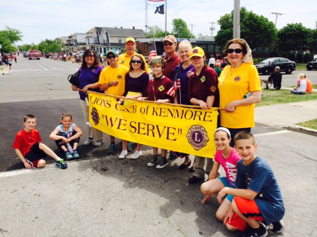 Kenmore Lions and friends prepare to march in the annual Ken-Ton Memorial Day Parade!