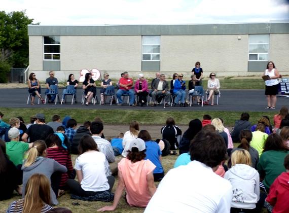 Ribbon Cutting Ceremony at Rudolph Hennig School